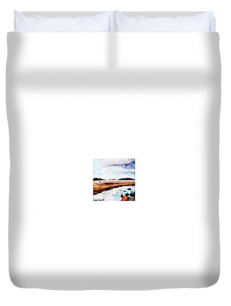Good Harbor Beach, Salt Island, And Thatcher's Island Duvet Cover