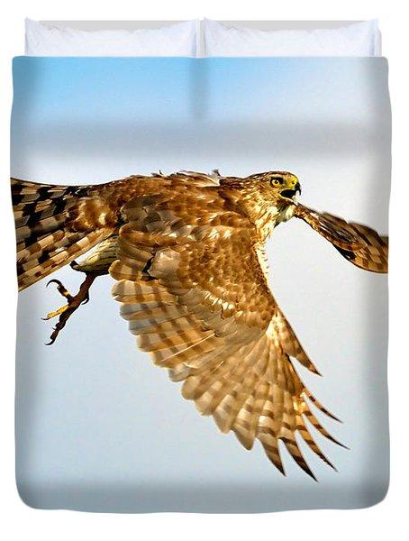 Good Hawk Hunting Duvet Cover