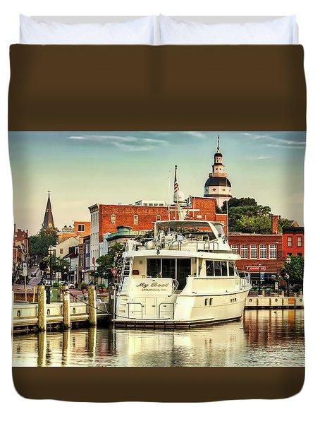 Good Morning Annapolis Duvet Cover