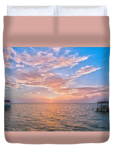 Good Morning Aransas Bay Duvet Cover