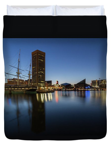 Good Morning Baltimore Duvet Cover