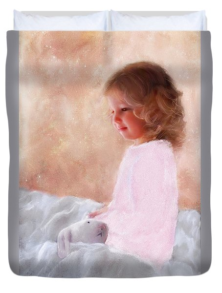 Good Morning Bunnie Duvet Cover by Colleen Taylor