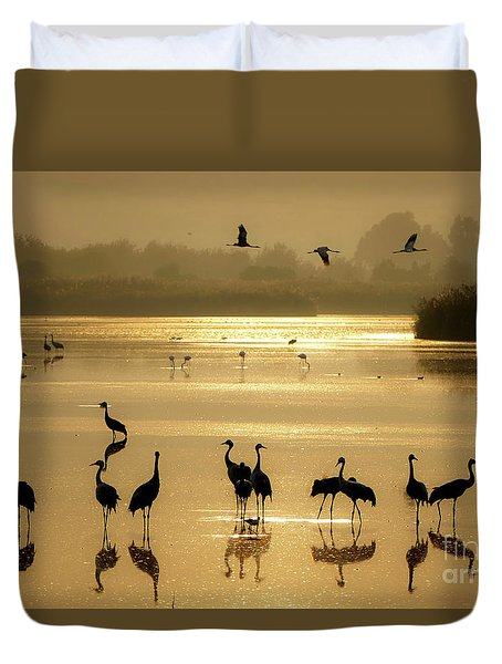 Good Morning Chula Lake Duvet Cover