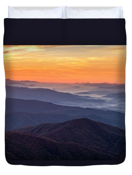 Good Morning Clingmans Dome In The Smokies Duvet Cover