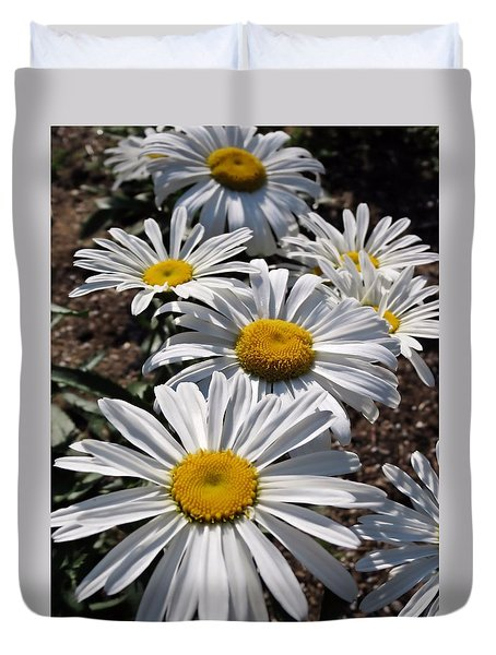 Good Morning Daisies Duvet Cover by MTBobbins Photography