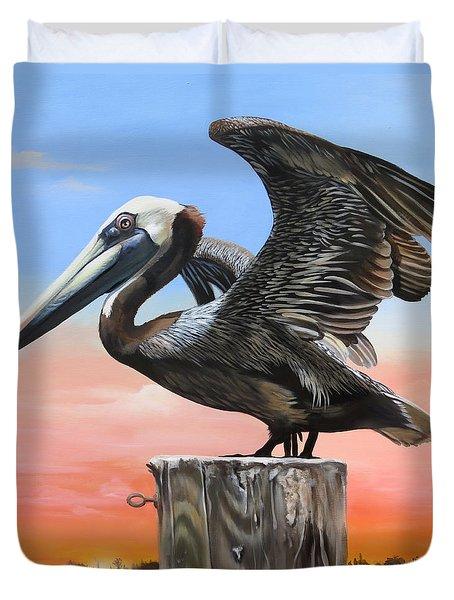 Good Morning Florida Duvet Cover