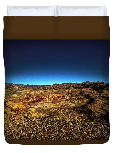 Good Morning From The Oregon Desert Duvet Cover