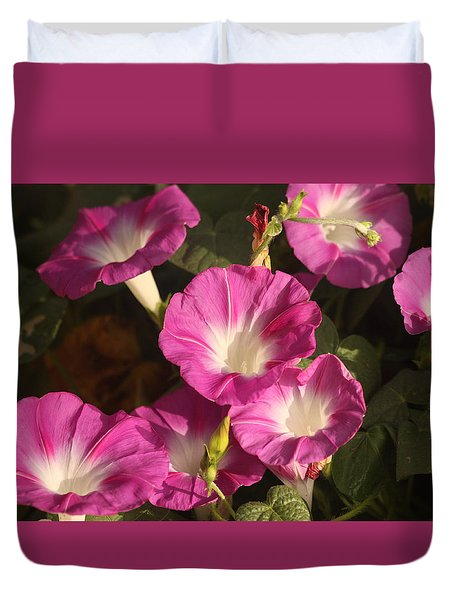 Duvet Cover featuring the photograph Good Morning, Glory by Sheila Brown
