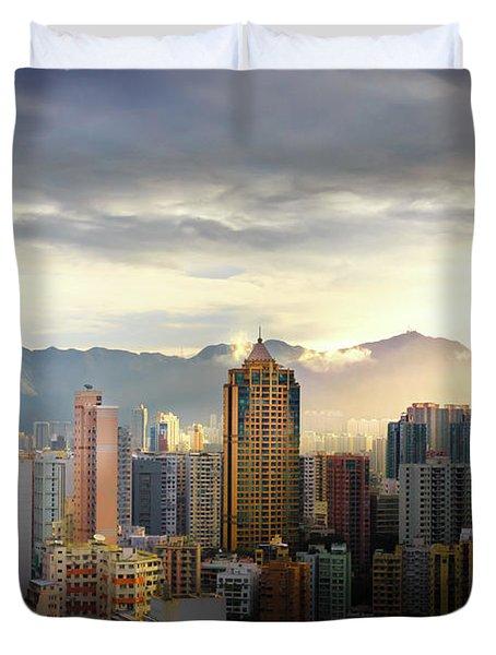 Good Morning, Hong Kong Duvet Cover