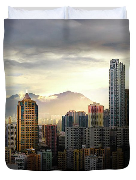 Good Morning, Hong Kong Duvet Cover