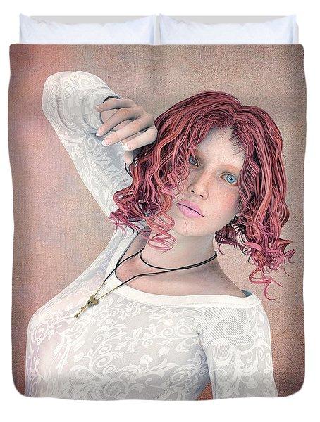 Duvet Cover featuring the digital art Good Morning by Jutta Maria Pusl