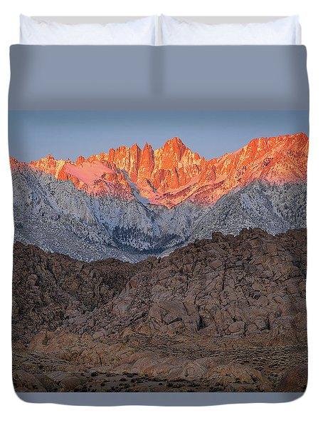 Good Morning Mount Whitney Duvet Cover