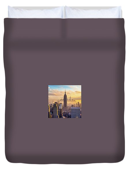 Good Morning New York Duvet Cover