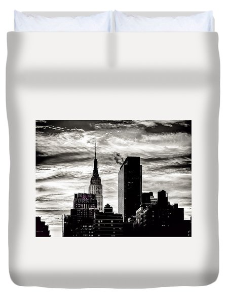 Good Morning Nyc Duvet Cover