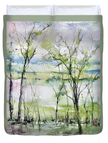 Good Morning On Da Bayou Faciane Duvet Cover