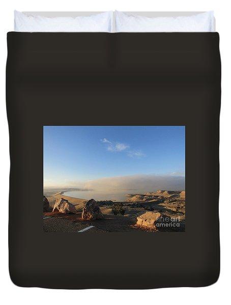 Good Morning Pueblo Duvet Cover