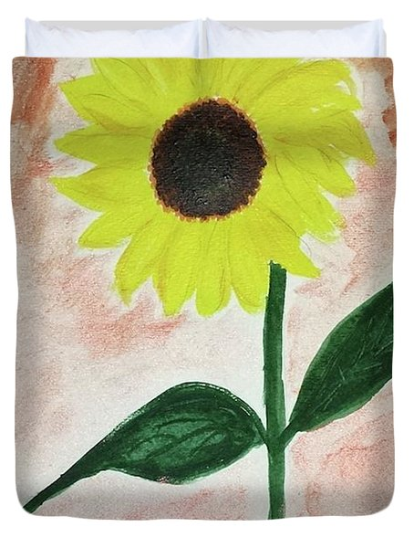 Duvet Cover featuring the painting Good Morning Sunshine by Margaret Welsh Willowsilk