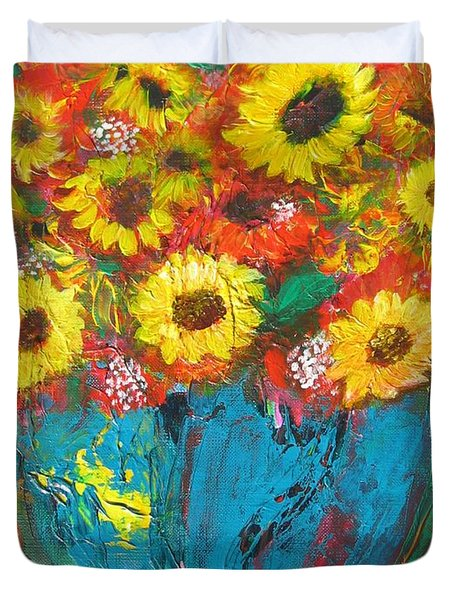 Good Morning Sunshine Duvet Cover by Maria Watt