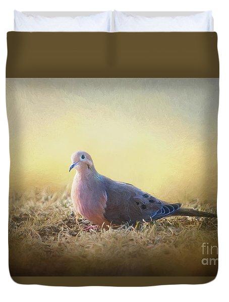 Good Mourning Dove Duvet Cover