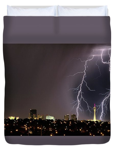 Good Night Everybody Duvet Cover