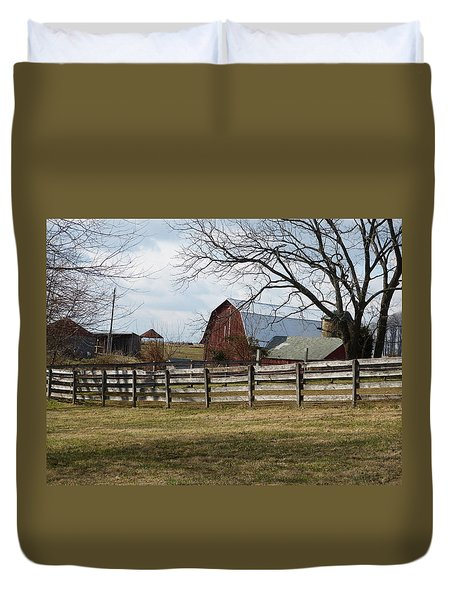 Good Old Barn Duvet Cover by Donald C Morgan