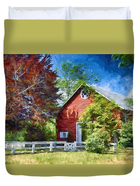 Good Old Fashion Farming Duvet Cover by Tricia Marchlik