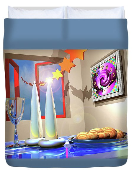Good Shabbos Duvet Cover