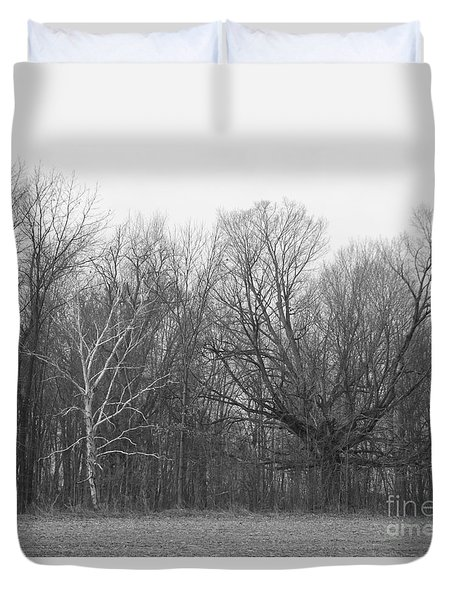 Good Vs Evil Trees Duvet Cover by Erick Schmidt
