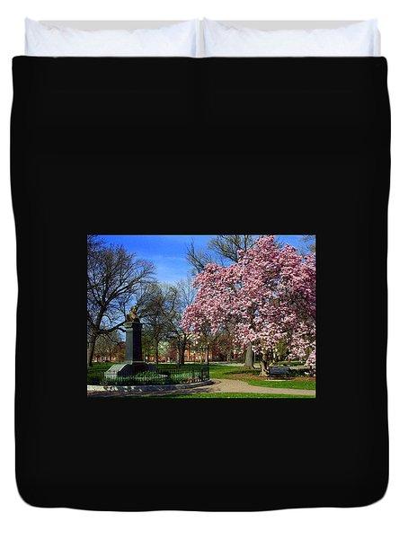 Goodale Park In The Spring Duvet Cover
