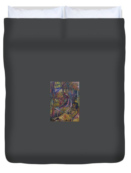 Goodbye Sweet Dreams Duvet Cover by Peggy  Blood