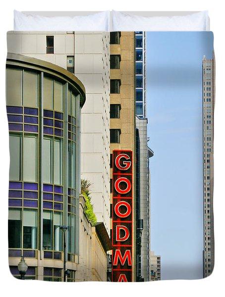 Goodman Memorial Theatre Chicago Duvet Cover by Christine Till