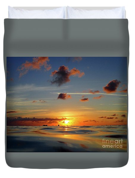 Goodnight Cayman Duvet Cover by Suzanne Oesterling