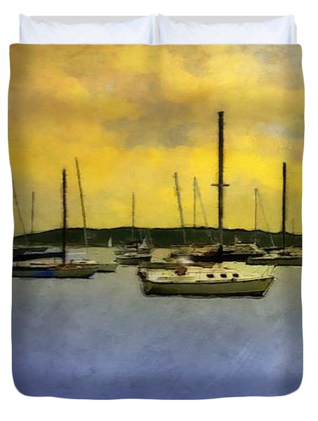 Goodnight, Nantucket Duvet Cover by RC deWinter