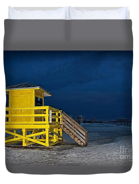 Goodnight Siesta Key Duvet Cover