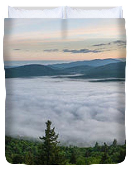 Goodnow Mountain Panorama Duvet Cover