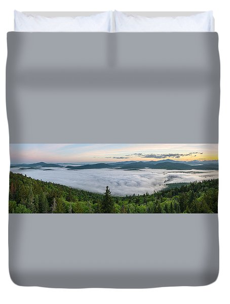 Goodnow Mountain Panorama Duvet Cover