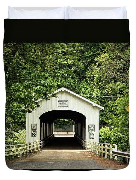 Goodpasture Covered Bridge Duvet Cover
