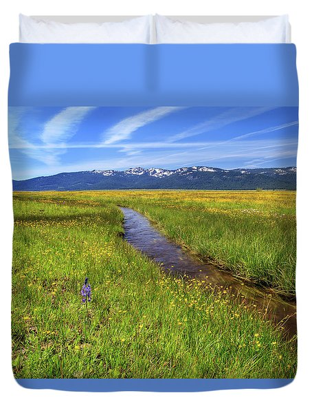 Duvet Cover featuring the photograph Goodrich Creek by James Eddy