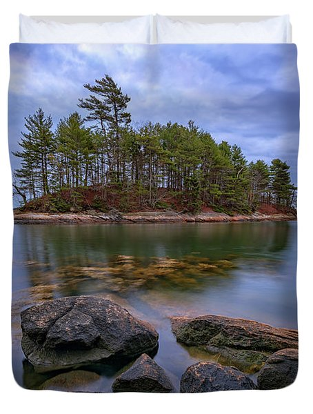 Duvet Cover featuring the photograph Googins Island by Rick Berk