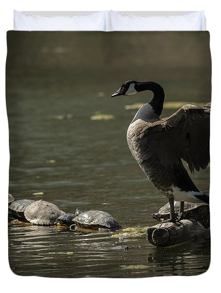 Goose And Turtles Duvet Cover