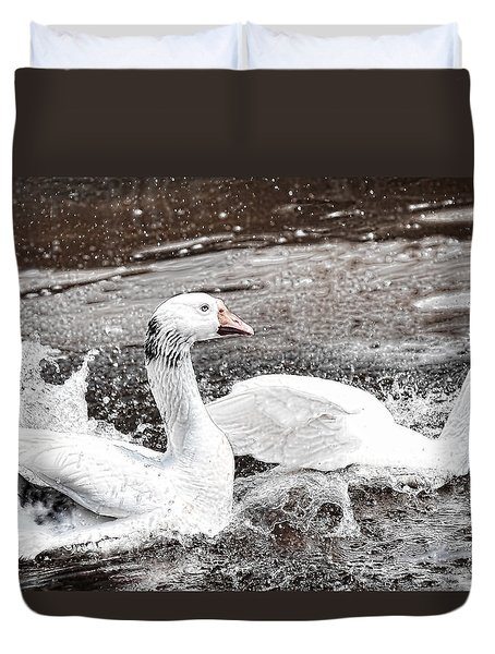 Duvet Cover featuring the photograph Goose by Bonnie Willis