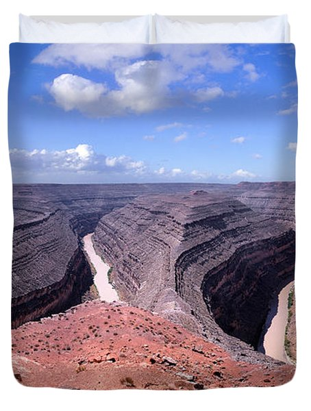 Gooseneck Bends Panorama Duvet Cover