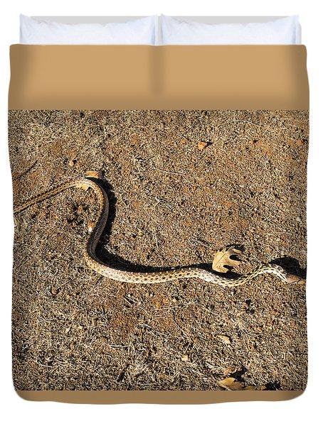 Gopher Snake Duvet Cover by Frank Wilson