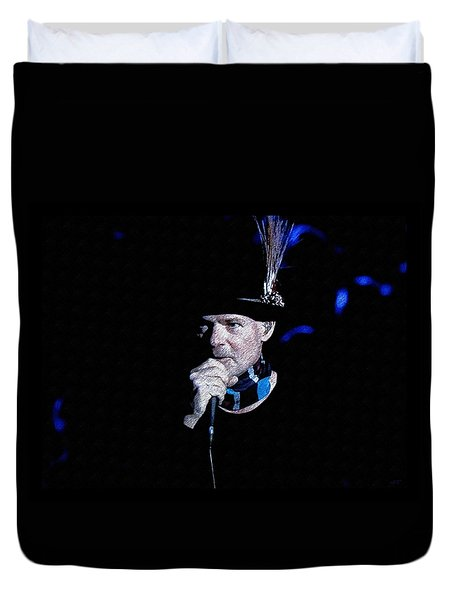 Gord Downie In Concert Duvet Cover