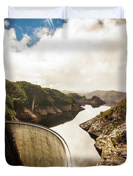 Gordon Dam Tasmania  Duvet Cover