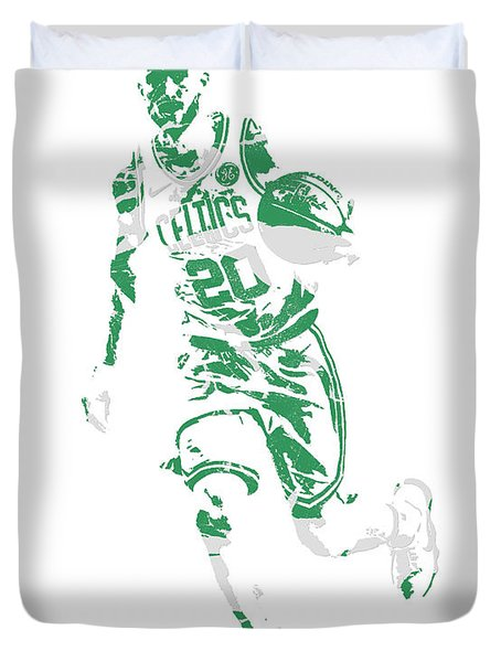 Gordon Hayward Boston Celtics Pixel Art 10 Duvet Cover