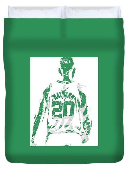 Gordon Hayward Boston Celtics Pixel Art T Shirt 5 Duvet Cover