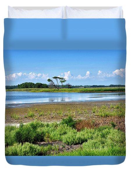 Gordons Pond At Cape Henlopen State Park - Delaware Duvet Cover by Brendan Reals