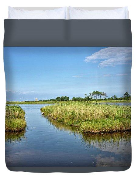Gordons Pond - Cape Henlopen Park - Delaware Duvet Cover by Brendan Reals