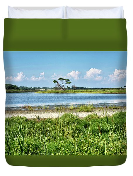 Duvet Cover featuring the photograph Gordons Pond - Cape Henlopen State Park - Delaware by Brendan Reals
